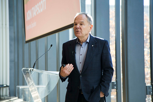 tapscott-speaking