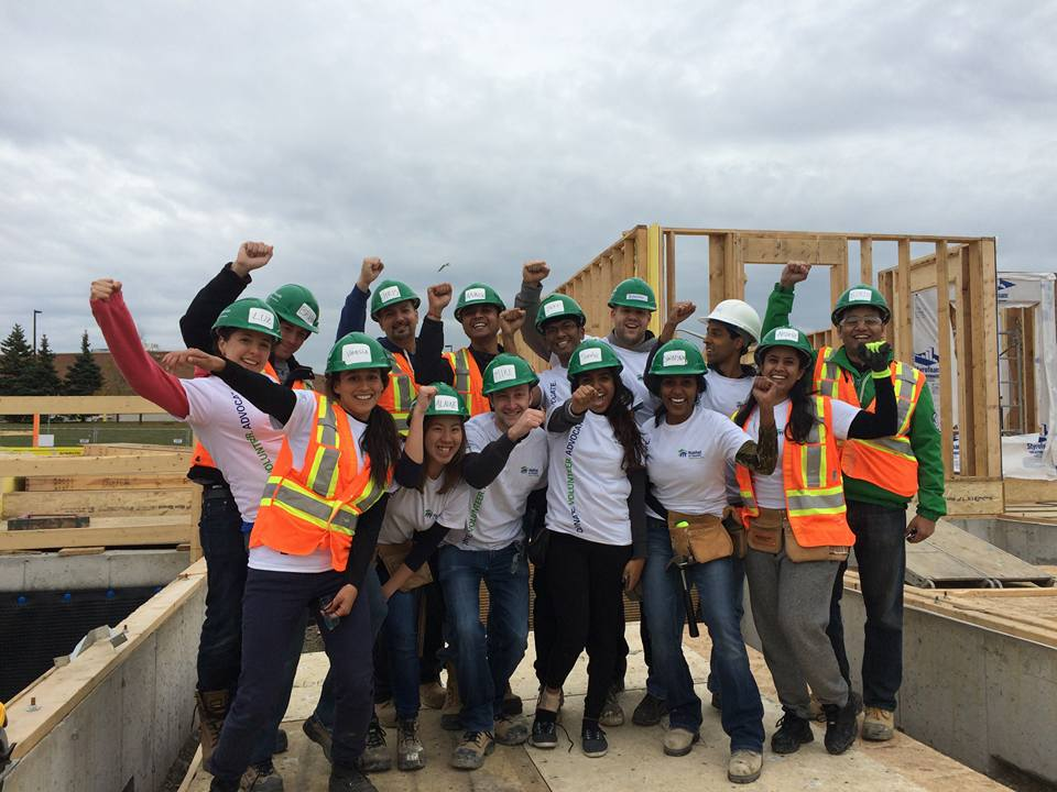 Habitat for Humanity building site volunteers (October 2015)